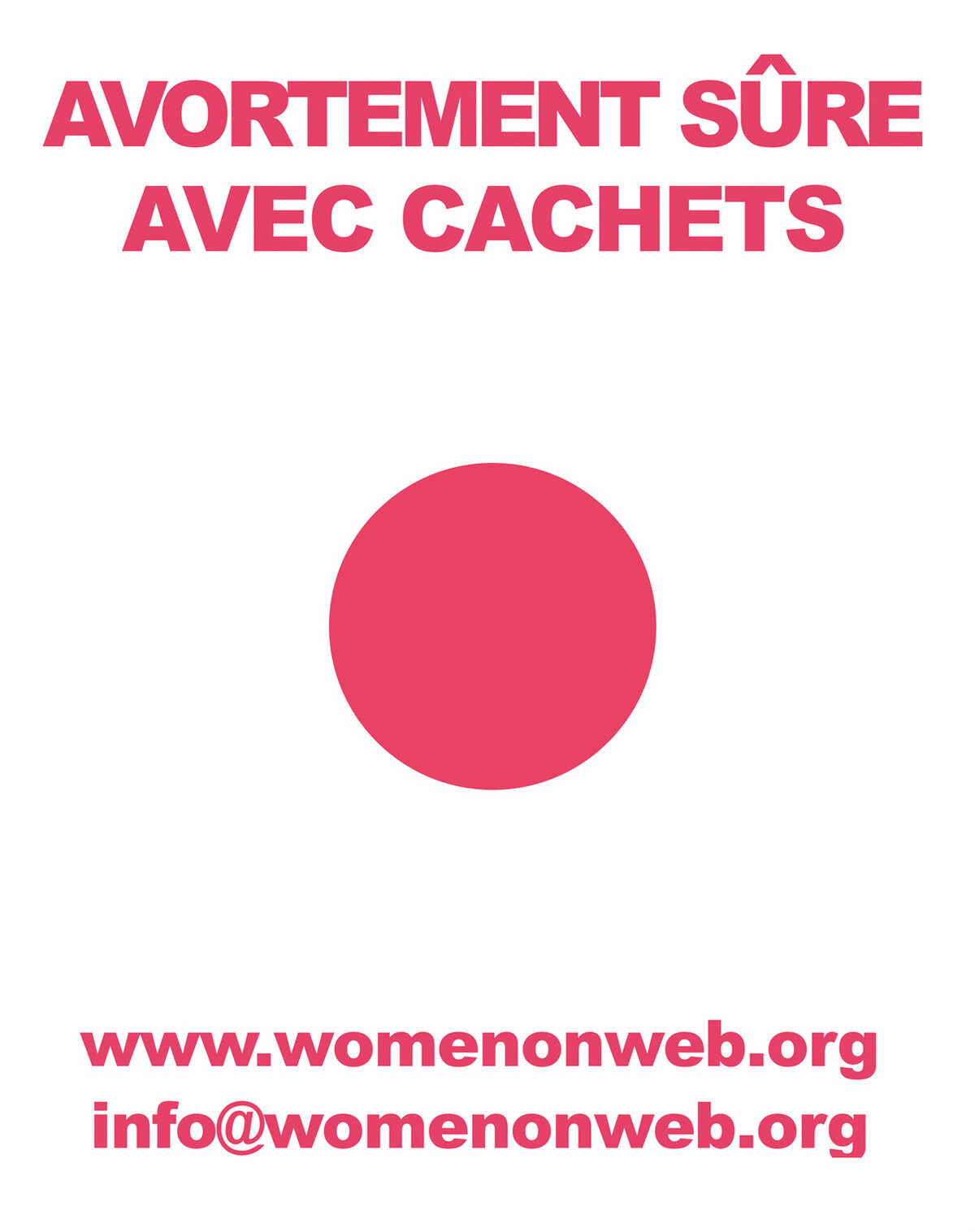 Women on Web sticker French