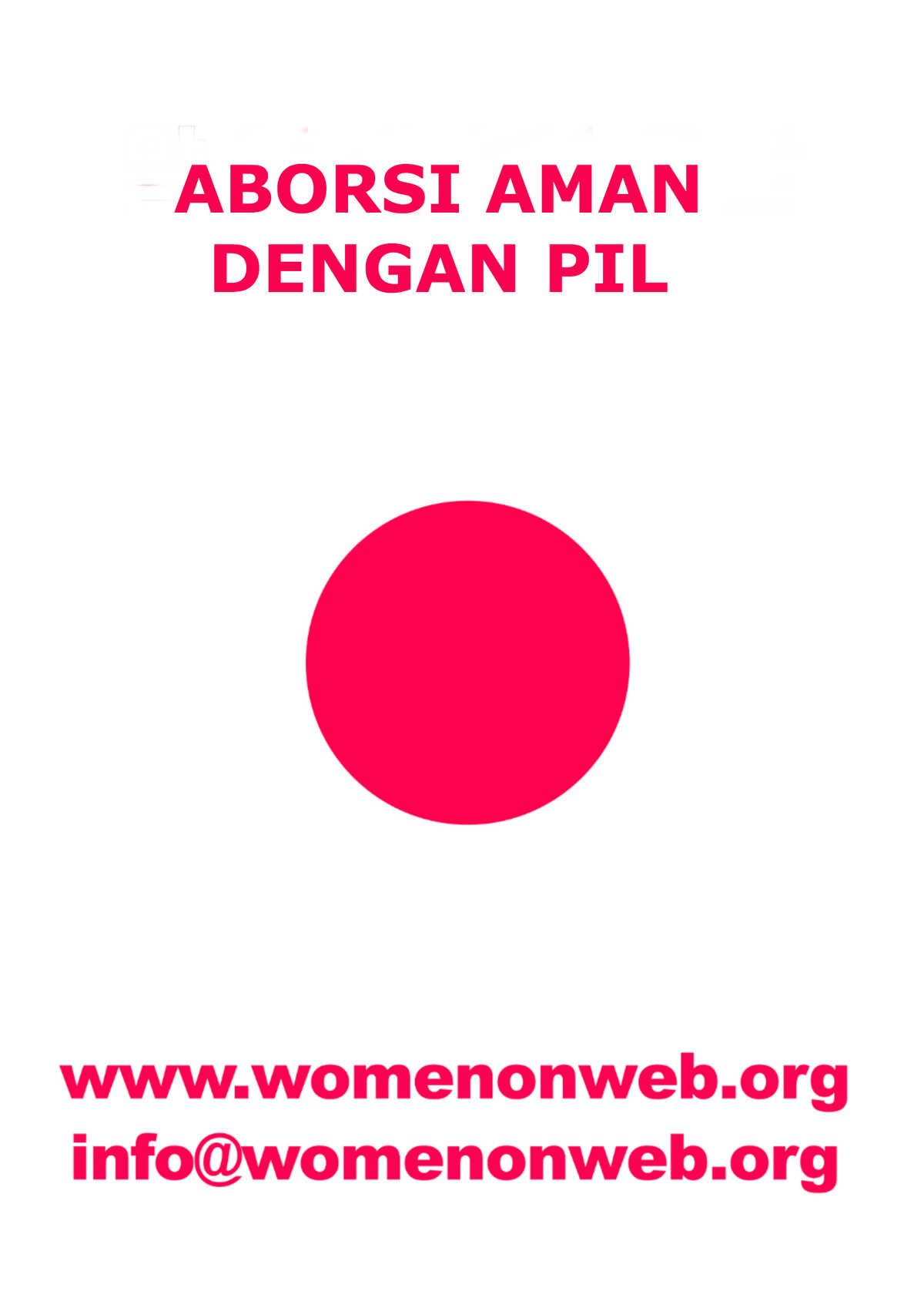 Women on Web sticker Bahasa Indonesia