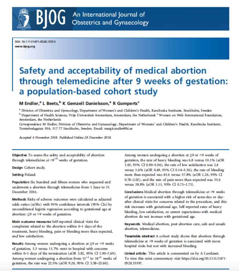 Poalnd medical abortion study 12-2018