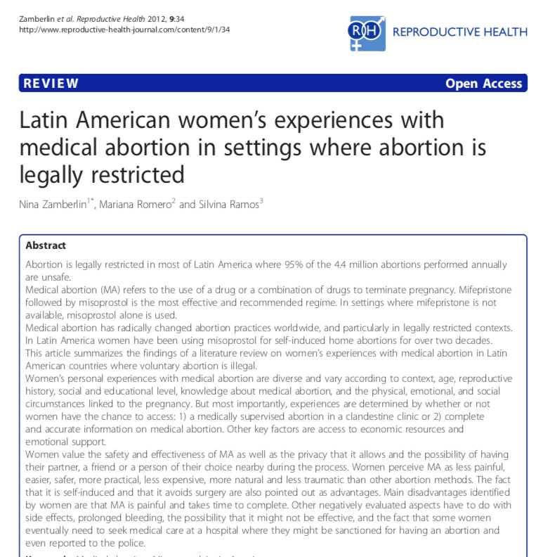 Latin American women's experiences with tele-medical abortion