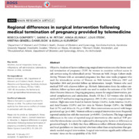 Regional differences in surgical intervention following medical termination of pregnancy provided by telemedicine.